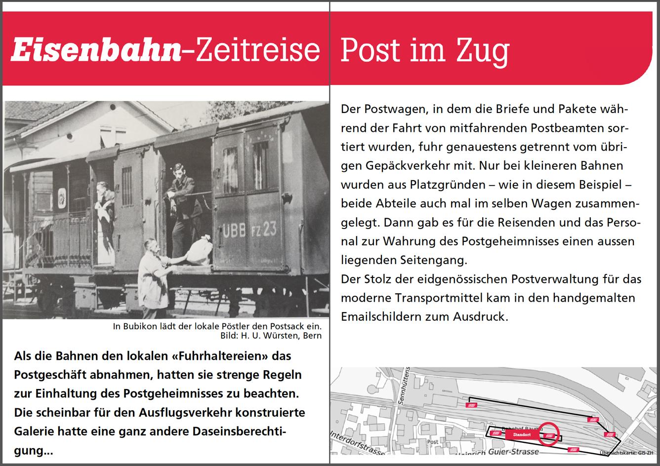 Post im Zug
