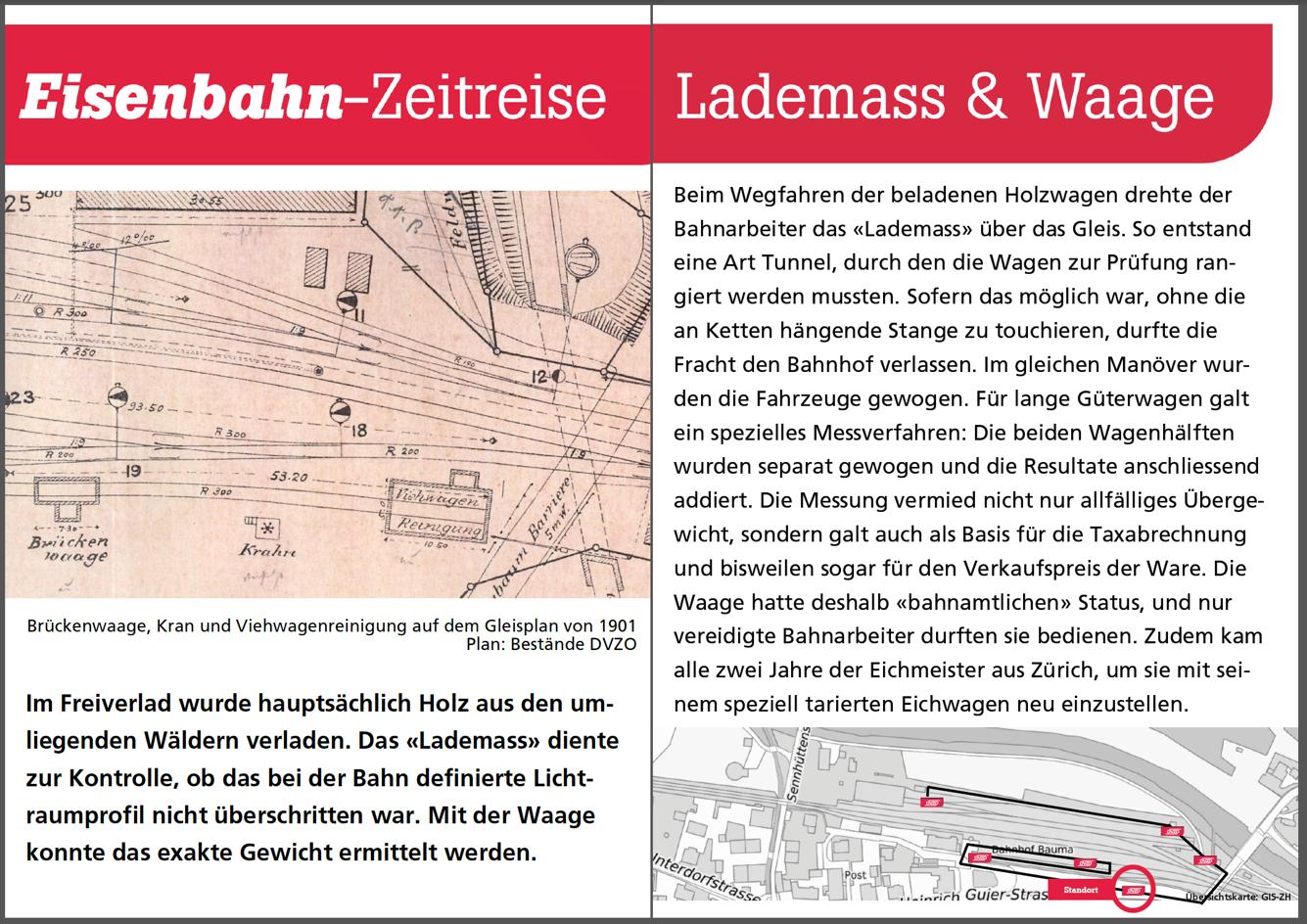 Lademass und Gleiswaage