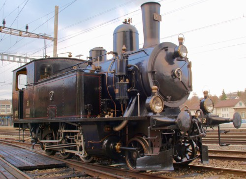 © Urs Gerber – Passt bestens zum Motto «Nebenbahntreffen» die Ed3/4 51 der Dampfbahn Bern.