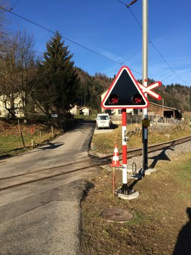 Erste Teile der neuen Bahnübergangsanlagen, © DVZO, Lukas Trüb