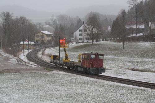Der Bauzug bei der Arbeit im Neuthal, © DVZO, Lukas Trüb / Florian Vogel