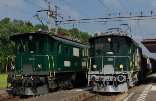 Be 4/4 Nr.11 schorno-locomotive-management, sml GmbH und Be 4/4 Nr. 15 DVZO (F. Wilhelm)