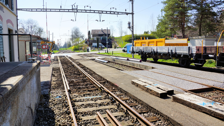 Der Umbaubereich Gleis 1, © DVZO, Lukas Trüb