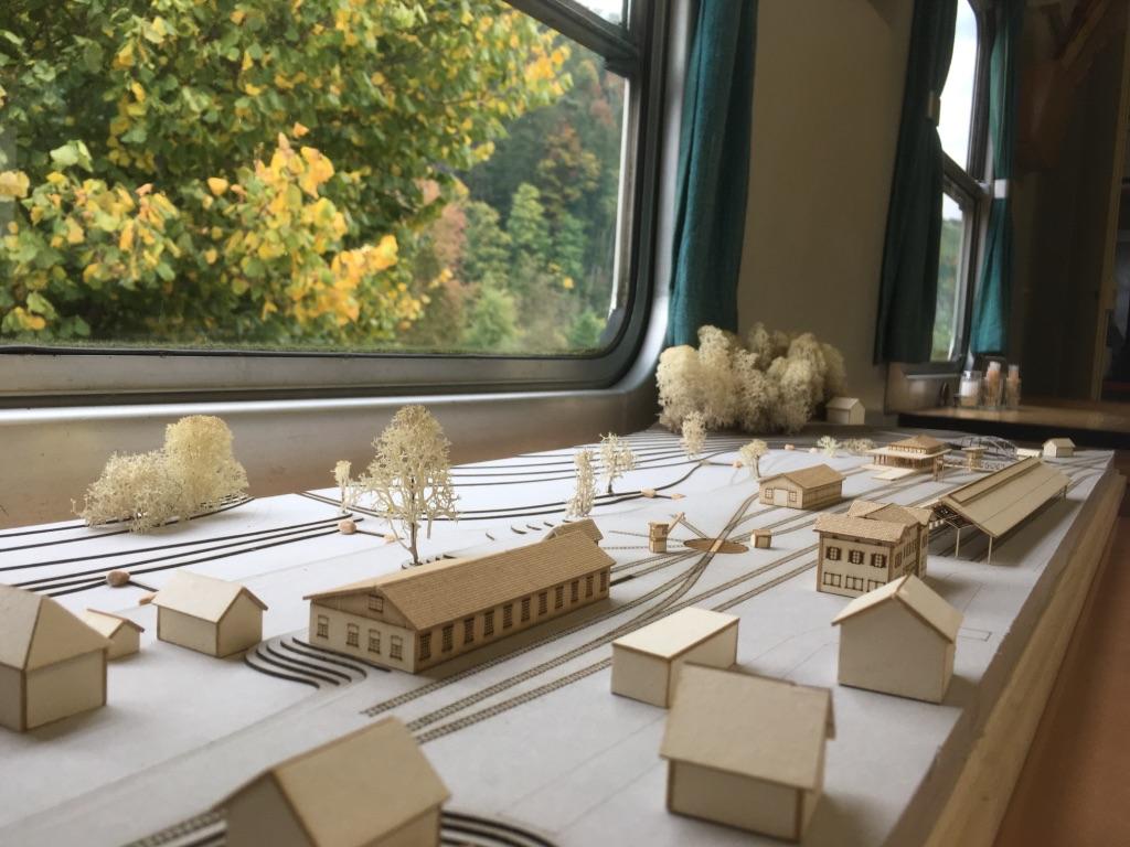 1:500 Modell der Zukunftsvision von Stefano Jehle.  Westansicht
