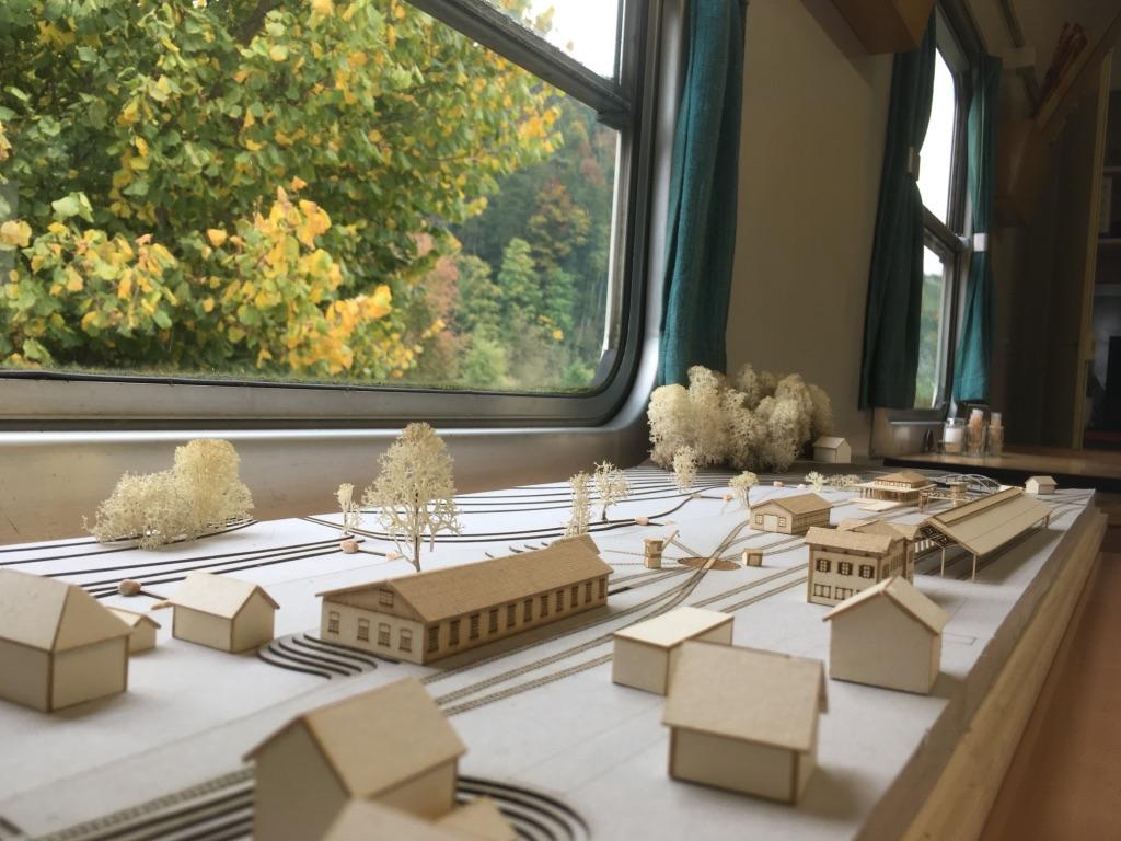 1:500 Modell der Zukunftsvision von Stefano Jehle.  Südansicht