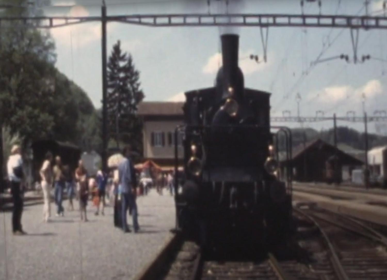 Bahnhof Bauma in den 80er