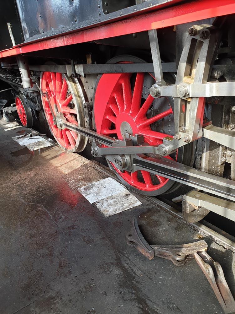 Räder einer Dampflok