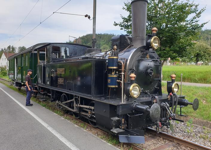 Dampflok 4 Schwyz im Neuthal