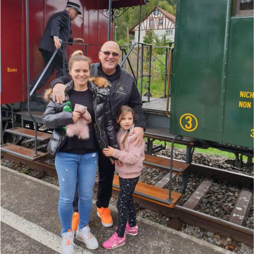 Familienausflug mit der Dampfbahn