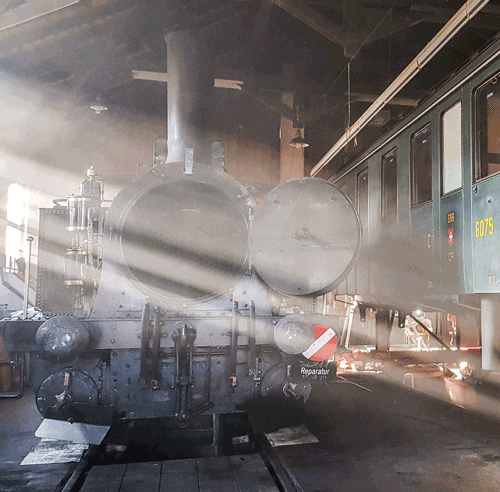 Lok 4 Schwyz im Depot