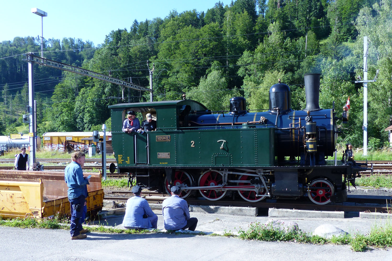 Dampflokomotive Hinwil in Bauma
