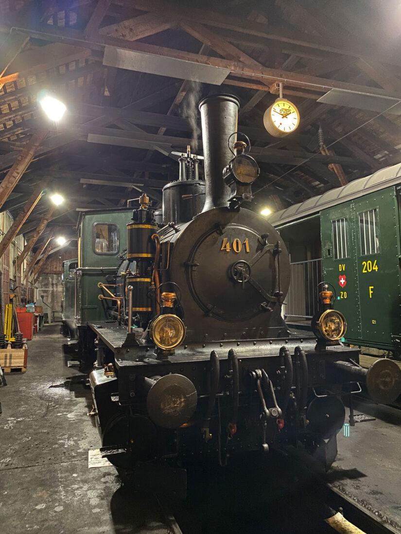 Dampflok 401 im Depot Bauma