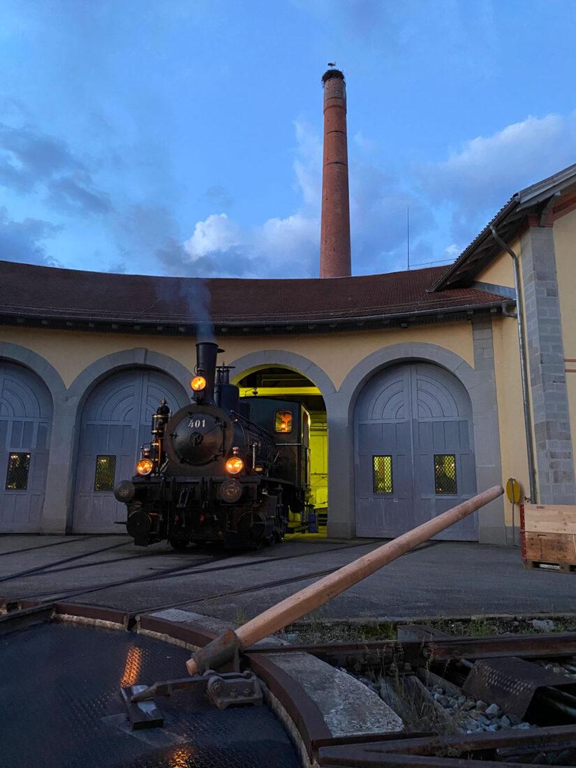 Dampflok 401 Schmierdampf