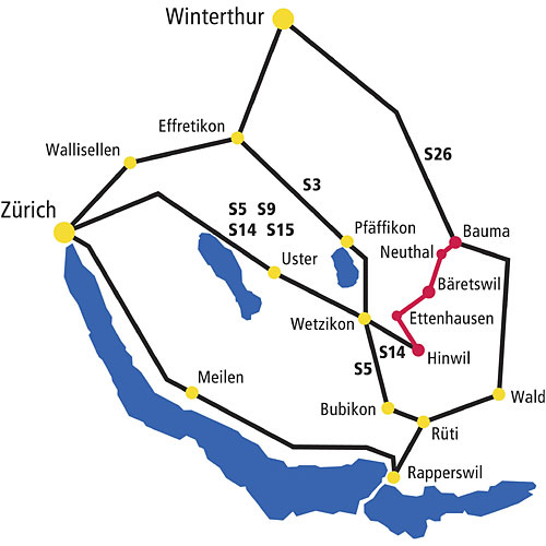 Situationsplan DVZO-Strecke